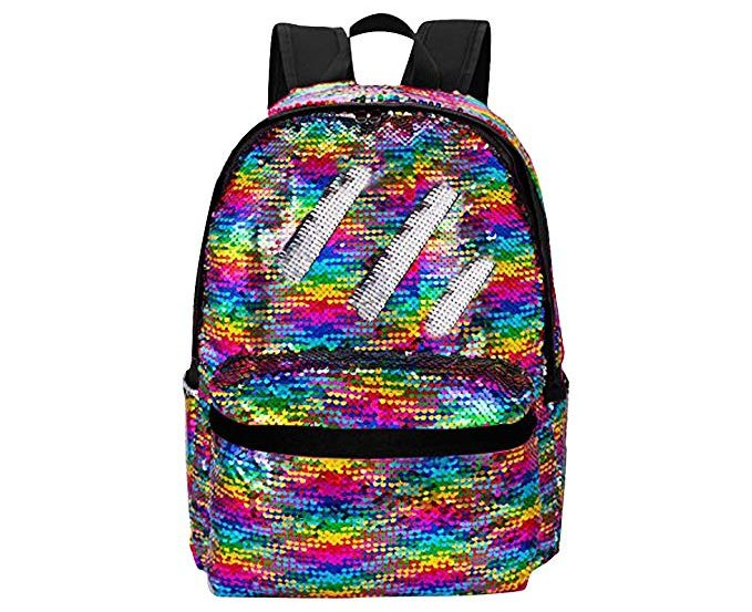 HeySun Reversible Sequins School Backpack